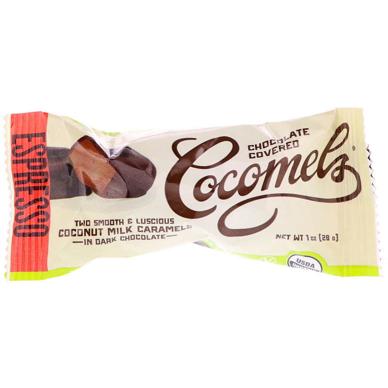 Cocomels, Organic, Chocolate Covered Coconut Milk Caramels, Espresso, 15 Units, 1 oz (28 g) Each - photo 3