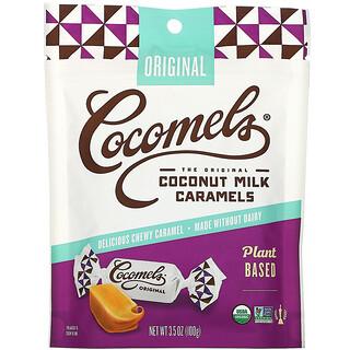 Cocomels, オーガニック、ココナッツミルクキャラメル、オリジナル、100g(3.5オンス)