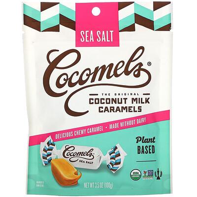 Cocomels Органическая карамель с кокосовым молоком, с морской солью, 3, 5 унц. (100 г)  - купить со скидкой