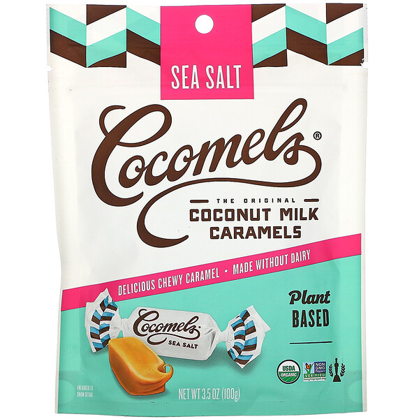 Organic, Coconut Milk Caramels, Sea Salt, 3.5 oz (100 g)