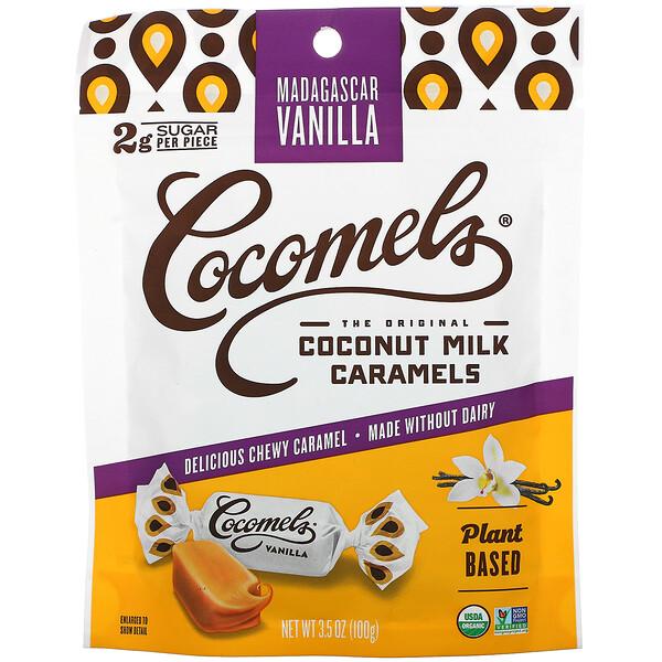 Coconut Milk Caramels, Madagascar Vanilla, 3.5 oz (100 g)