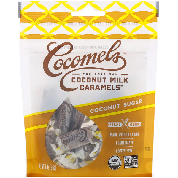 Coconut  Milk Caramels, Coconut Sugar, 3 oz (85 g)