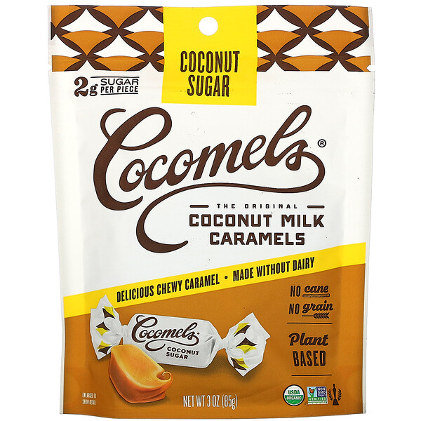 Organic, Coconut  Milk Caramels, Coconut Sugar, 3 oz (85 g)