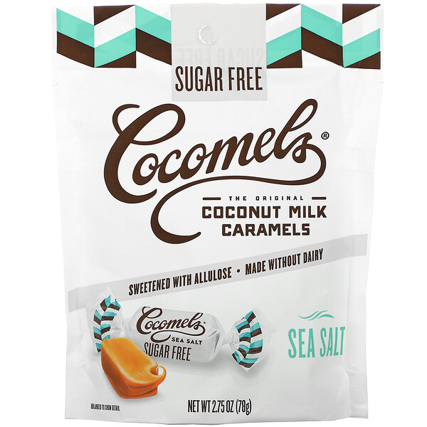 Cocomels, Coconut Milk Caramels, Sugar Free, Sea Salt, 2.75 oz (78 g)