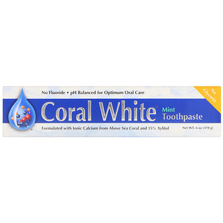 CORAL LLC, Coral White Toothpaste, Mint, 6 oz (170 g)