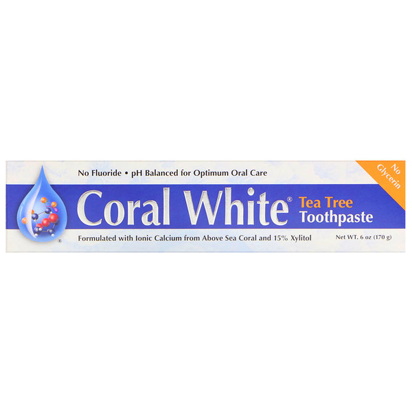 CORAL LLC, Coral White Toothpaste, Tea Tree, 6 oz (170 g) (Discontinued Item)