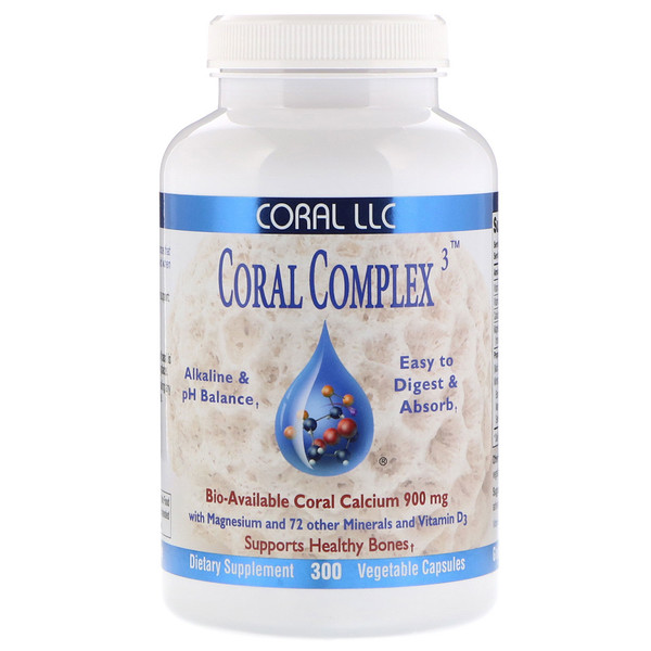 CORAL LLC, Coral Complex 3, 300 Vegetable Capsules (Discontinued Item)