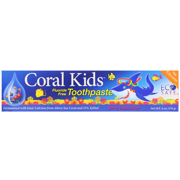 CORAL LLC, Coral Kids Toothpaste, Berry Bubblegum, 6 oz (170 g) (Discontinued Item)