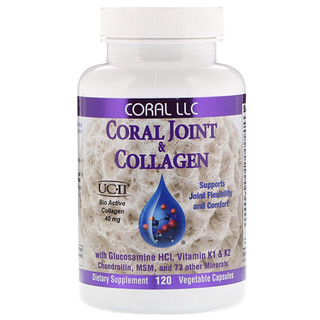 CORAL LLC, Coral Joint & Collagen, 120 Vegetable Capsules