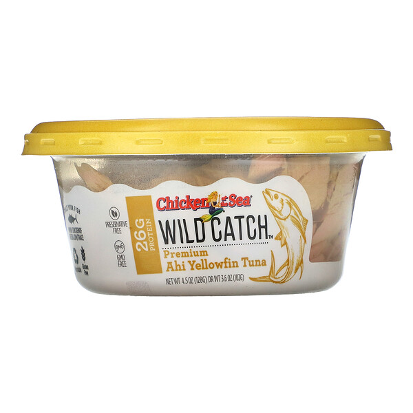 Wild Catch, Premium Ahi Yellowfin Tuna, 4.5 oz ( 128 g)