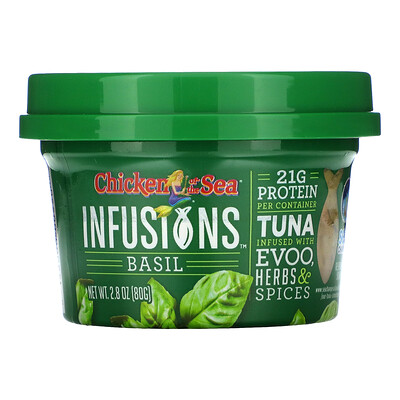 Chicken of the Sea Infusions Wild Caught Tuna, Basil, 2.8 oz ( 80 g)