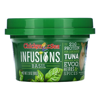 Chicken of the Sea, Infusions Wild Caught Tuna, Basil, 2.8 oz ( 80 g)