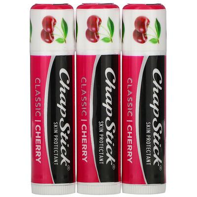 Chapstick Защитный бальзам для губ, Классическая вишня, 4 г каждый