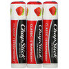 Chapstick, Lip Care Skin Protectant, Classic Strawberry, 3 Sticks, 0.15 oz (4 g) Each