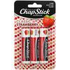 Chapstick, Lip Care Skin Protectant, Classic Strawberry, 3 Sticks, 0.15 oz (4 g) Each