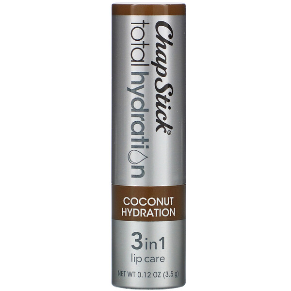 Chapstick, Total Hydration, 3 in 1 Lip Care, Coconut Hydration, 0.12 oz (3.5 g)