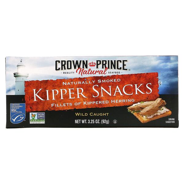 Crown Prince Natural, 熏魚小吃,自然煙熏,3.25 盎司(92 克)