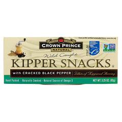 Crown Prince Natural, Kipper Snacks, with Cracked Black Pepper, 3.25 oz (92 g)