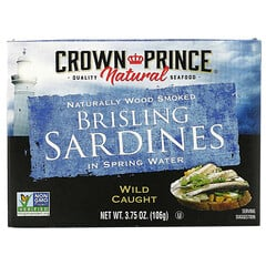 Crown Prince Natural, 布裡斯林沙丁魚,泉水,3.75 盎司(106 克)