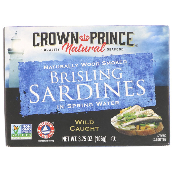 Brisling Sardines, In Spring Water, 3.75 oz (106 g)