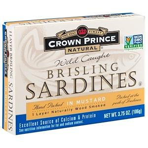 Краун Принс Нэчуралс, Brisling Sardines, In Mustard, 3.75 oz (106 g) отзывы