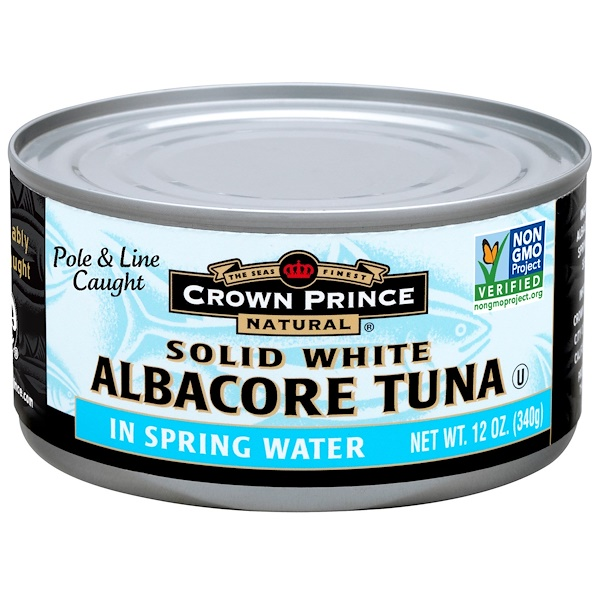 Crown Prince Natural, Albacore Tuna, Solid White, In Spring Water, 12 oz (340 g) (Discontinued Item)