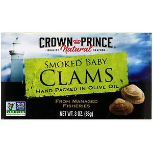 Краун Принс Нэчуралс, Smoked Baby Clams in Olive Oil, 3 oz (85 g) отзывы