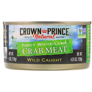 Crown Prince Natural, Fancy White-Lump Crab Meat, 6 oz (170 g)