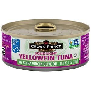 Краун Принс Нэчуралс, Yellowfin Tuna, Solid Light, In Extra Virgin Olive Oil, 5 oz (142 g) отзывы