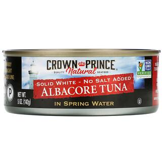 Crown Prince Natural, Atum Albacora, Branco Sólido - Sem Sal adicionado, em água de mola, 5 oz (142 g)