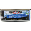 Crown Prince Natural, Tongol Tuna, Chunk Light, In Spring Water, 5 oz (142 g)