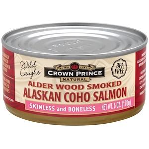 Краун Принс Нэчуралс, Alder Wood Smoked Alaskan Coho Salmon, 6 oz (170 g) отзывы