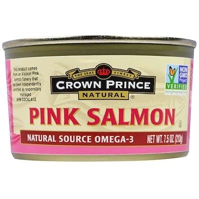 Crown Prince Natural 阿拉斯加桃紅色三文魚, 7.5 oz (213 g)