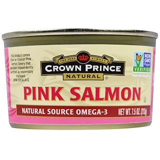 Crown Prince Natural, Pink Salmon, 7.5 oz (213 g)