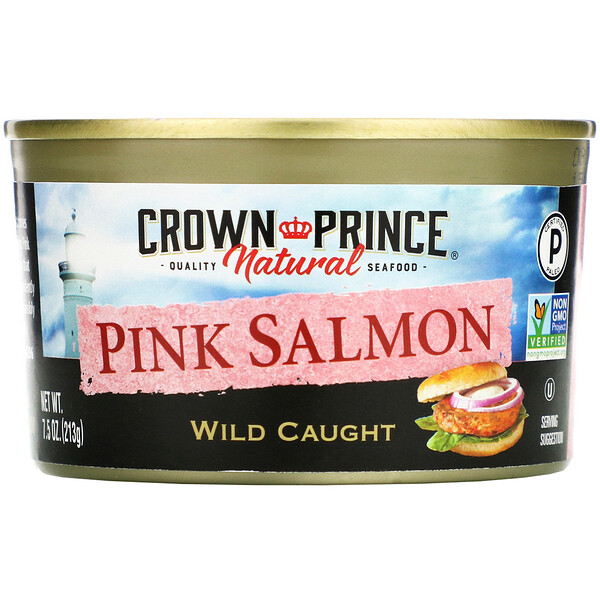 Crown Prince Natural, Pink Salmon, Wild Caught, 7.5 oz (213 g)