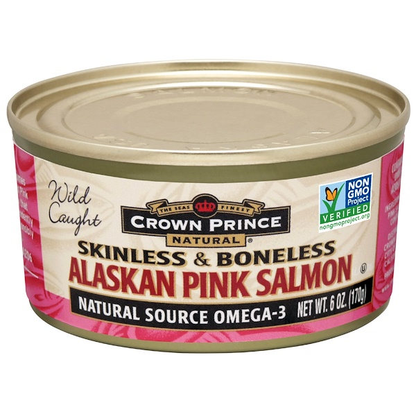 Crown Prince Natural, Alaskan Pink Salmon, Skinless & Boneless, 6 oz (170 g)
