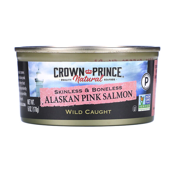 Crown Prince Natural, Pacific Pink Salmon, Skinless & Boneless , 6 oz (170 g)
