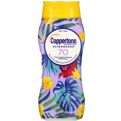 Coppertone Ultra Guard, Sunscreen Lotion, SPF 70, 8 fl oz (237 ml)