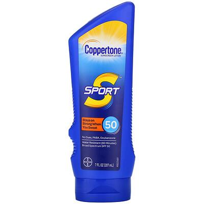 Купить Coppertone Sport, Sunscreen Lotion, SPF 50, 7 fl oz (207 ml)