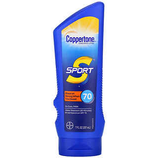 Coppertone, Sport, Sunscreen Lotion, SPF 70, 7 fl oz (207 ml)