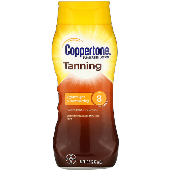 Tanning, Lightweight And Moisturizing,  SPF 8,  8 fl oz (237 ml)