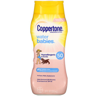 Coppertone, Water Babies, Sunscreen Lotion, SPF 50, 8 fl oz (237 ml)
