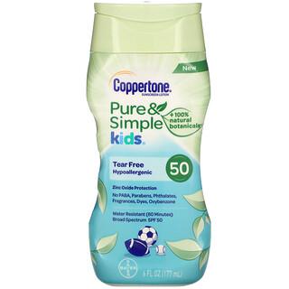 Coppertone, Kids, Pure & Simple, Sunscreen Lotion, SPF 50, 6 fl oz (177 ml)