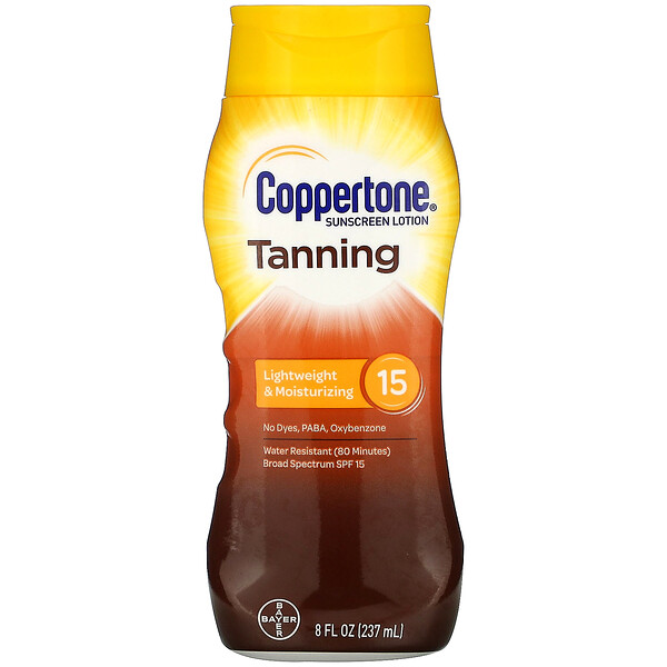 Tanning, Lightweight And Moisturizing, SPF 15, 8 fl oz (237 ml)