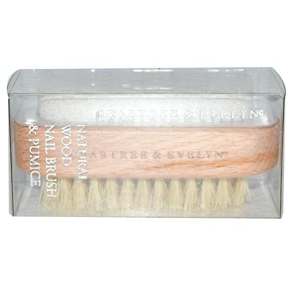 Crabtree & Evelyn ®, Natural Wood Nail Brush & Pumice (Discontinued Item)