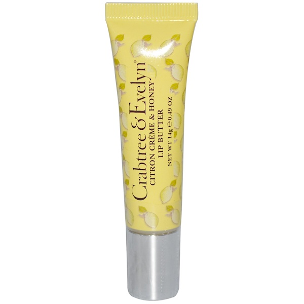 Crabtree & Evelyn ®, Lip Butter, Citron Creme & Honey, 0.49 oz (14 g) (Discontinued Item)