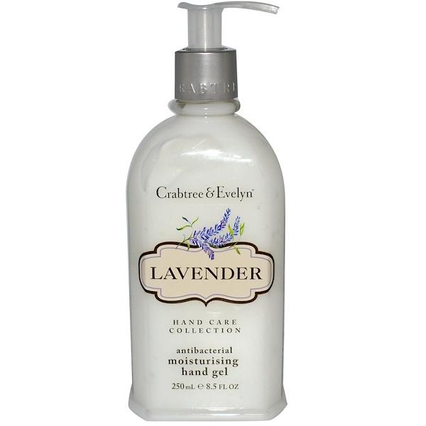 Crabtree & Evelyn ®, Antibacterial Moisturizing Hand Gel, Lavender, 8.5 fl oz (250 ml) (Discontinued Item)