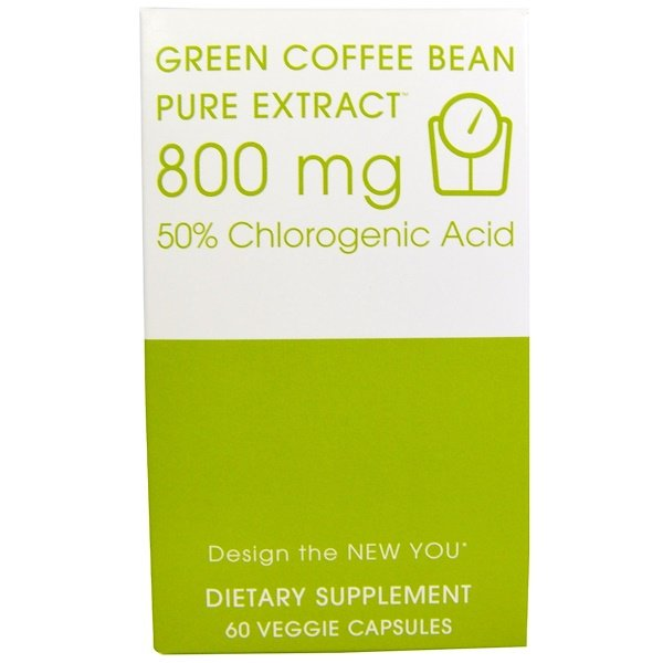 Creative Bioscience, Green Coffee Bean, Pure Extract, 800 mg, 60 Veggie Caps (Discontinued Item)