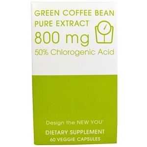 Криэйтив Байосаэнс, Green Coffee Bean, Pure Extract, 800 mg, 60 Veggie Caps отзывы