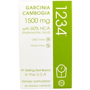 Криэйтив Байосаэнс, Garcinia Cambogia 1234, 1,500 mg, 60 Veggie Capsules отзывы покупателей